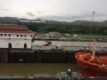 Canal de Panamá: Dos barcos pasando en dos canales diferentes al mismo tiempo