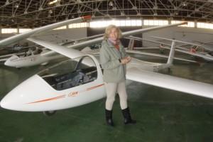Visitando el hangar