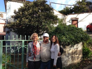Con mi padre en la casa de los padres de su madre y Elvira
