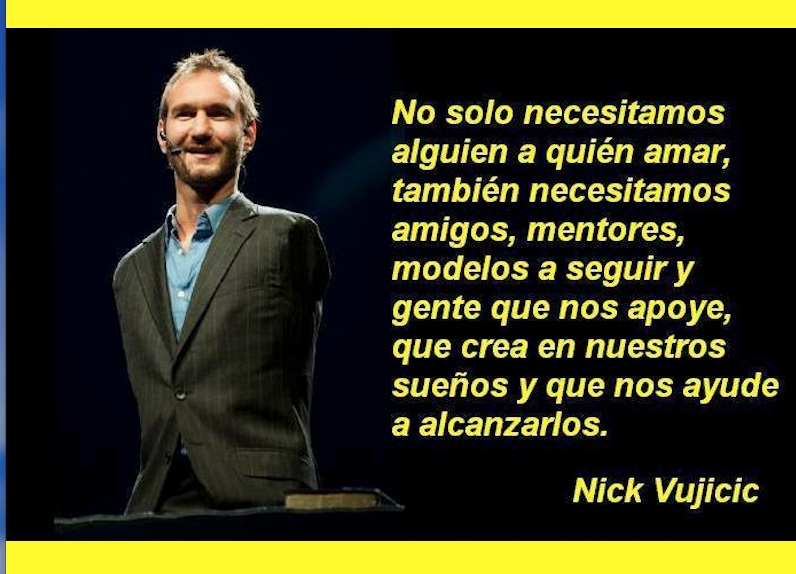Preferência Nick Vujicic Motivador Universal | Ser feliz ahora La vida es  IL03
